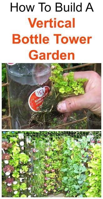 How To Build A Vertical Bottle Tower Garden DIY More