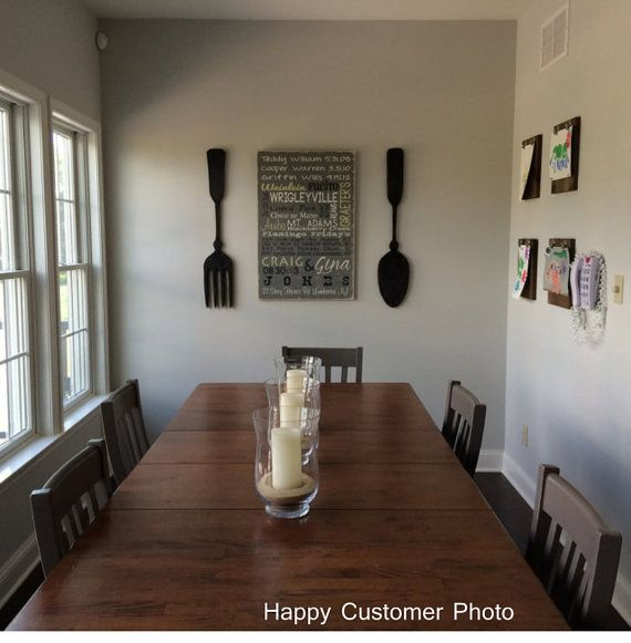 Large Wood fork and spoon wall decor by AlternativeLighting
