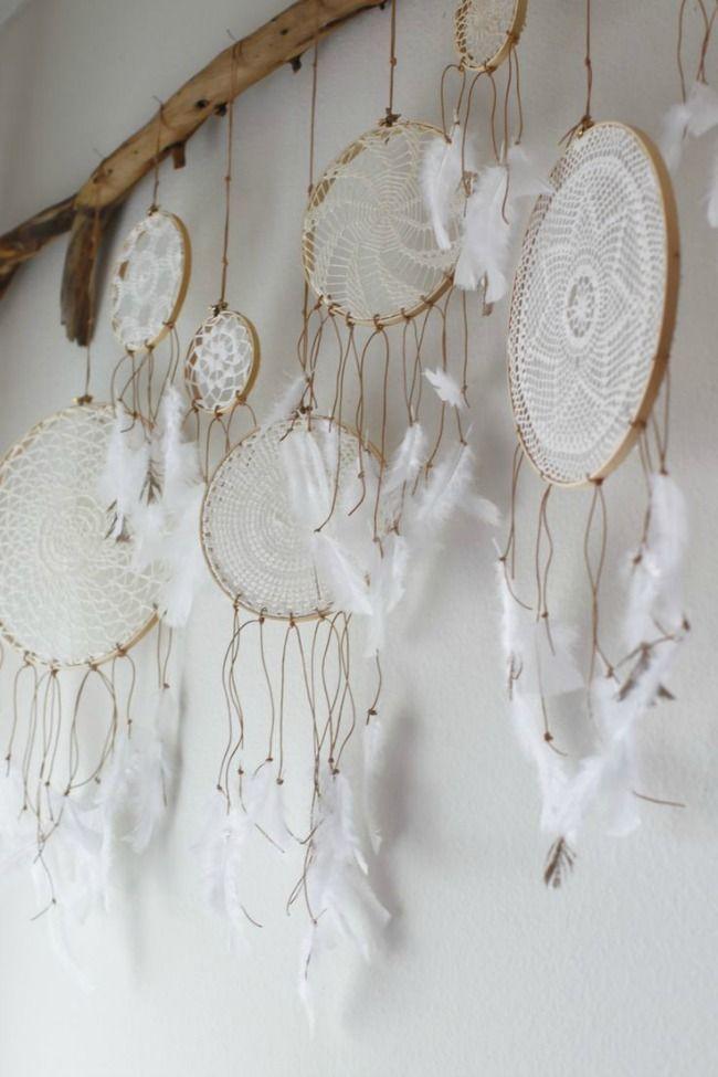 white dreamcatchers