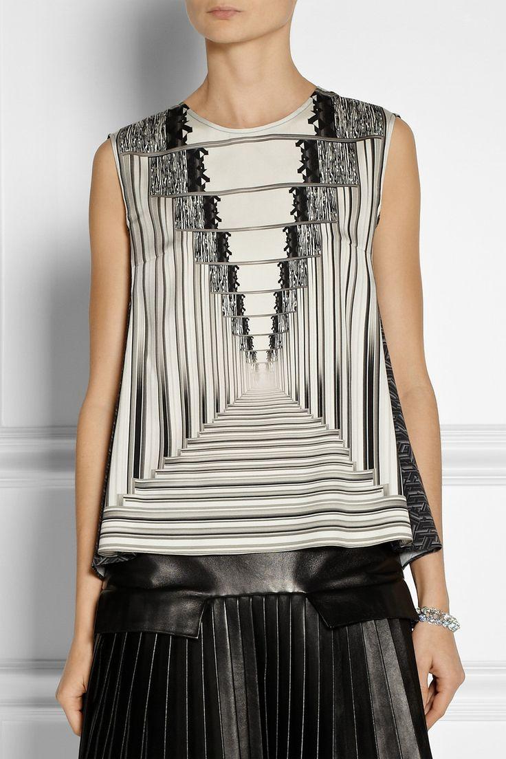 Peter Pilotto|Astrid printed stretch-silk top