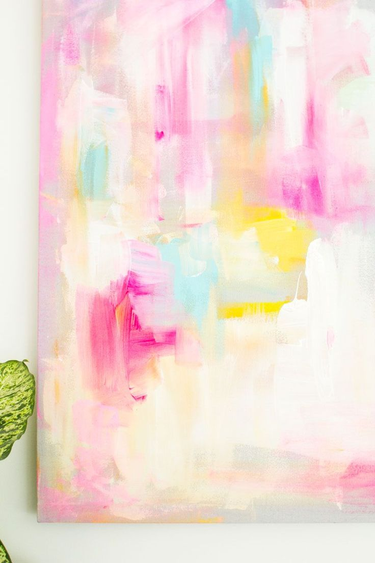Fall For DIY | DIY Abstract Artwork + make your own canvas.                                                                                                                                                     More