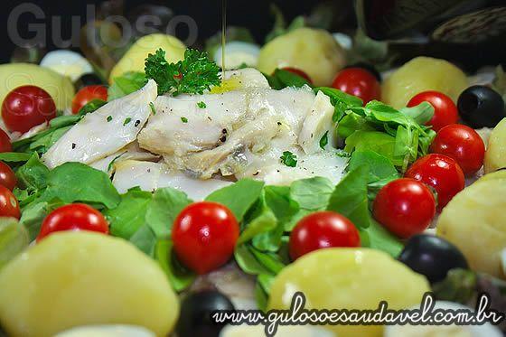 Salada de Lombo de Bacalhau Riberalves com Agrião » Peixes e Frutos do Mar, Receitas Saudáveis, Saladas » Guloso e Saudável