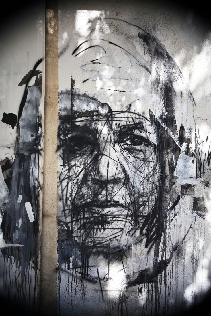 The only truth is in the streets.  Street Artist: Borondo in Athens