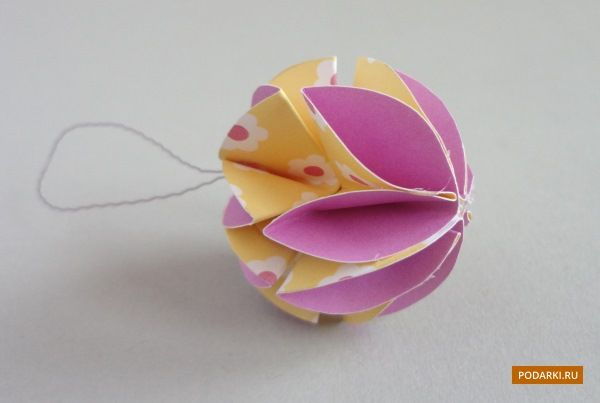 Christmas ball made of paper (MC). Discussion on LiveInternet - Russian Service Online Diaries