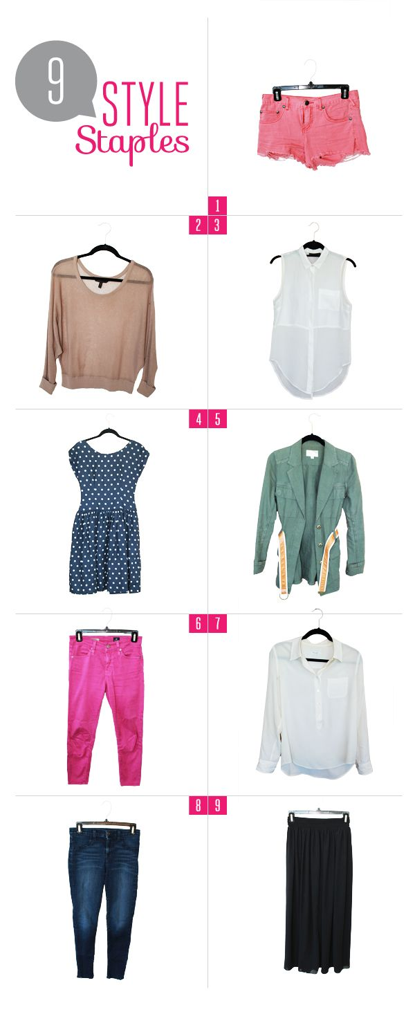 9 style staples every girl needs in her closet: Style Staples Ar, Every Girl, Closet Repin By Pinterest, Closet Buy