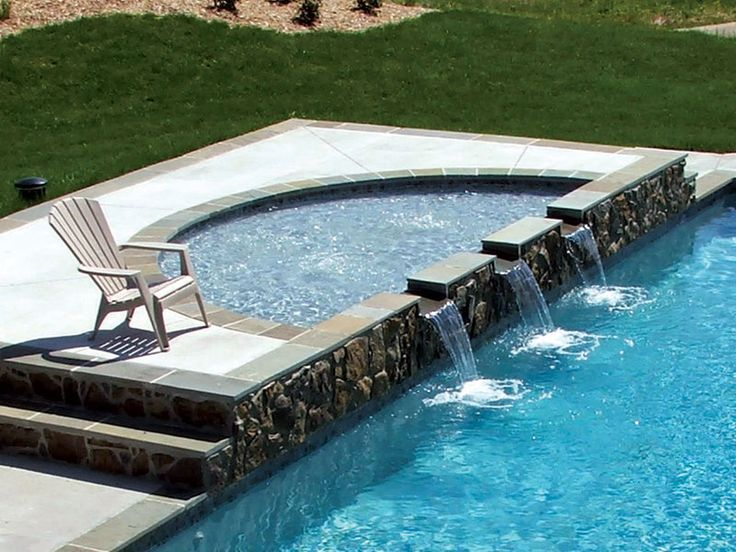 Pool Designs With Spa 390 best blue hawaiian fiberglass pools & spas images on pinterest