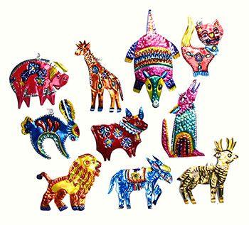 Inspire Wedding | Frida Kahlo | Mexican decoration, inspiration. Oaxacan Tin Art, animal ornaments