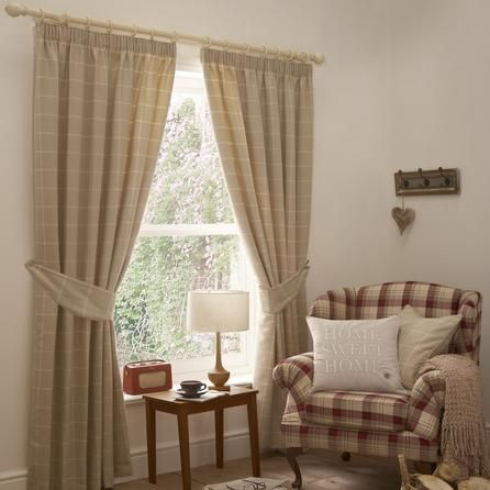 Natural Oxford Lined Pencil Pleat Curtains Dunelm