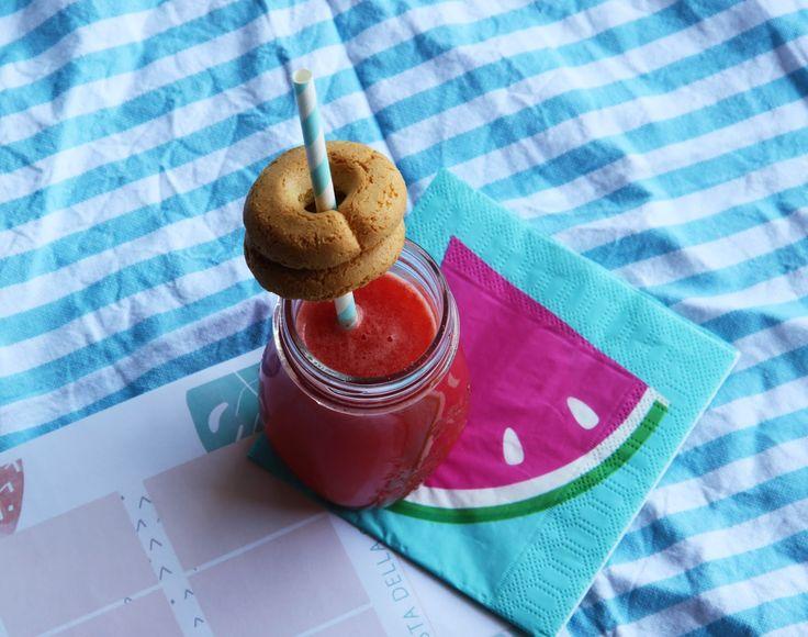 Il blog di El: Estratto di frutta - Anguria e Pesca.  #watermelon