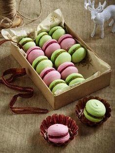 Himbeer- und Pistazien-Macarons Rezept