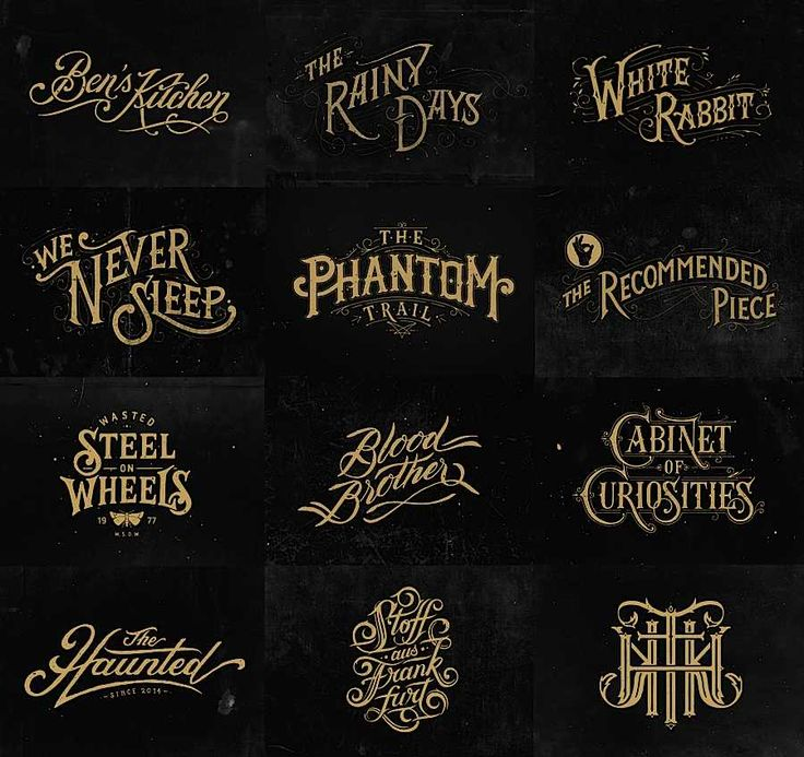 Excellent assortment of hand-lettered type by Tobias Saul