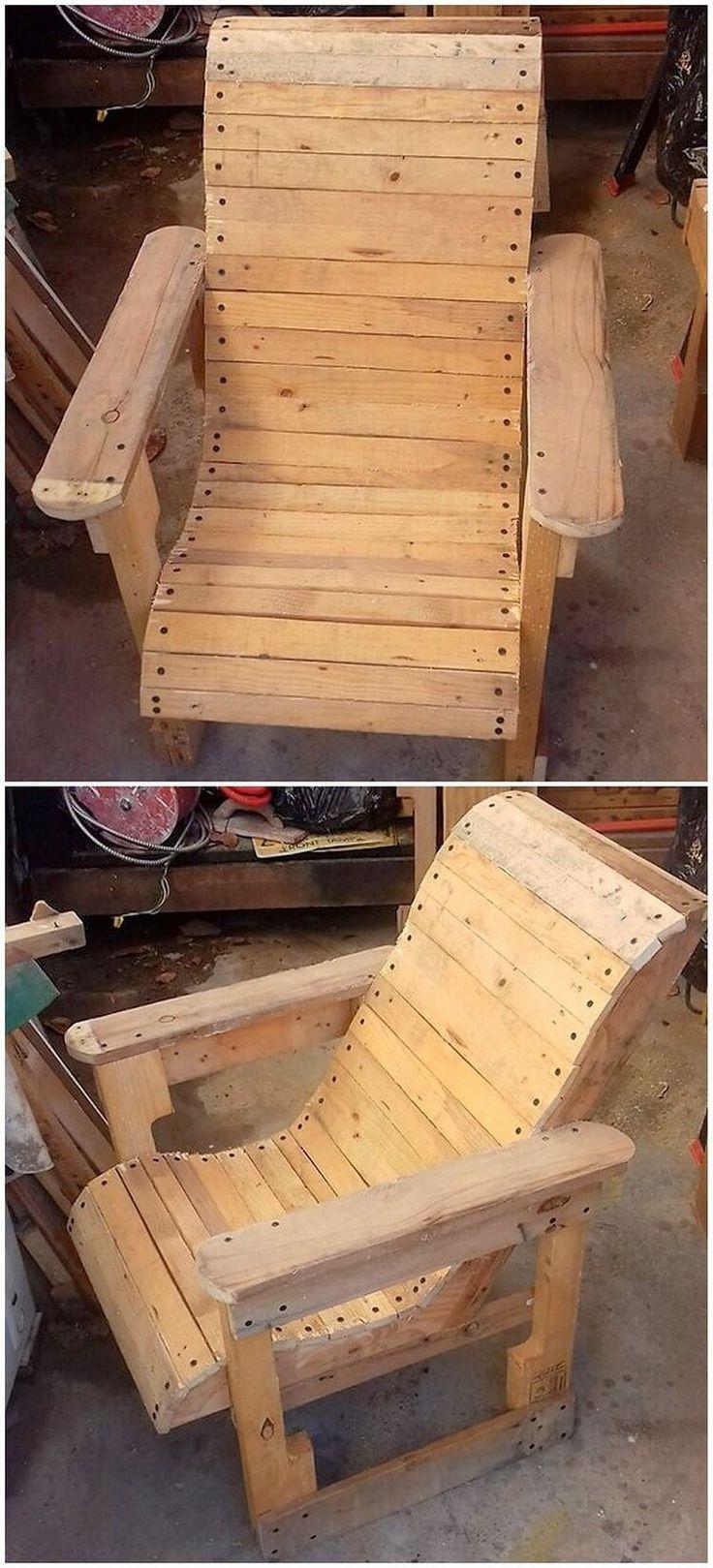 25+ unique Pallet chairs ideas on Pinterest   Pallet bank ...