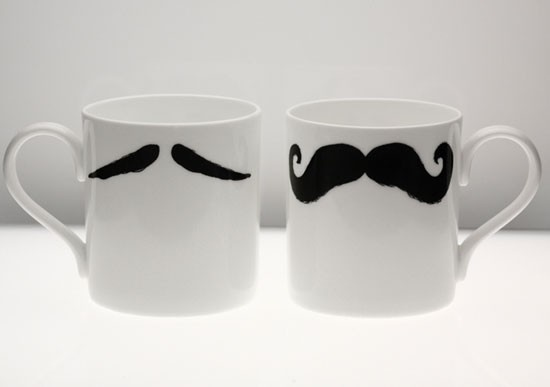 mustache. mustache. mugs.