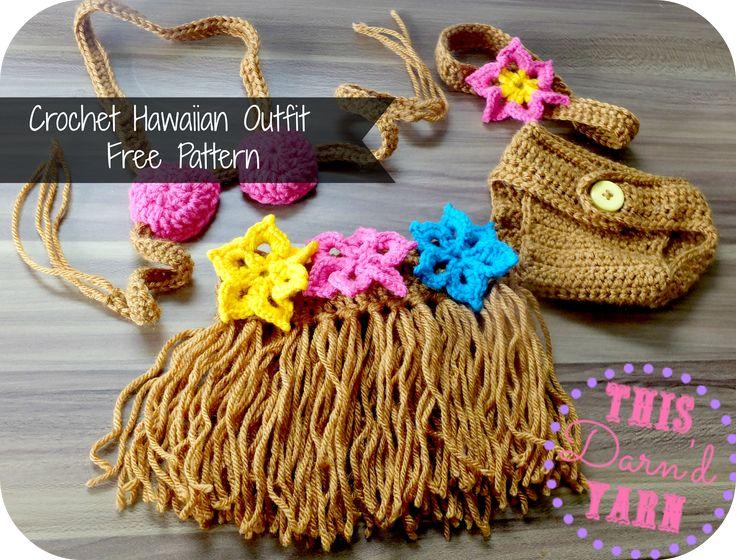 Libre Crochet Patrón: Bebé traje hawaiano