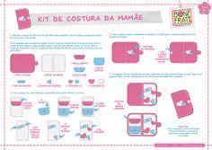 Kit de Costura da Mamãe - Parte 02 (PAP com molde)