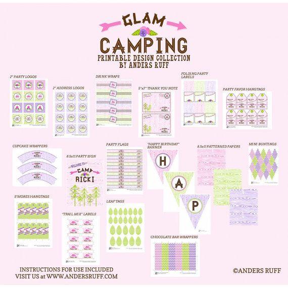 Glam Camping Invitation Girl Glamping Invitation Outdoors