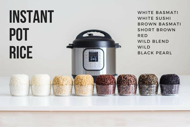 After weeks of experimenting I got it right. Here is your fail-proof guide for Instant Pot Rice. Basmati white rice, Basmati brown rice, short grain brown rice, wild rice blend, black rice, wild rice, red rice and sushi rice. Phew!