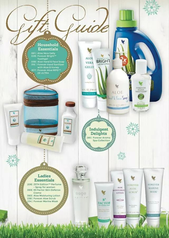 MAKE THIS YEAR THE BEST FESTIVE SEASON EVER – BUY YOUR LOVED ONES A FOREVER LIVING PRODUCTS GIFT Here is the Forever Gift Guide Contact me on:http://www.healeraloe.flp.com/