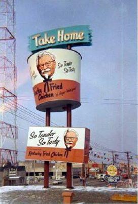 Vintage Kentucky Fried Chicken bucket sign