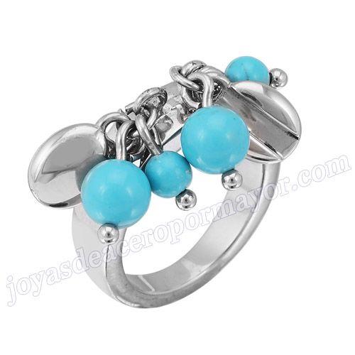 Material: Acero Inoxidable   Nombre:Anillo de moda de acero inoxidable  para las mujeres con accesorios   Model No.:SSRG130   Peso:9.5G
