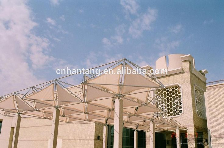 stainless steel space frame roof system canopy