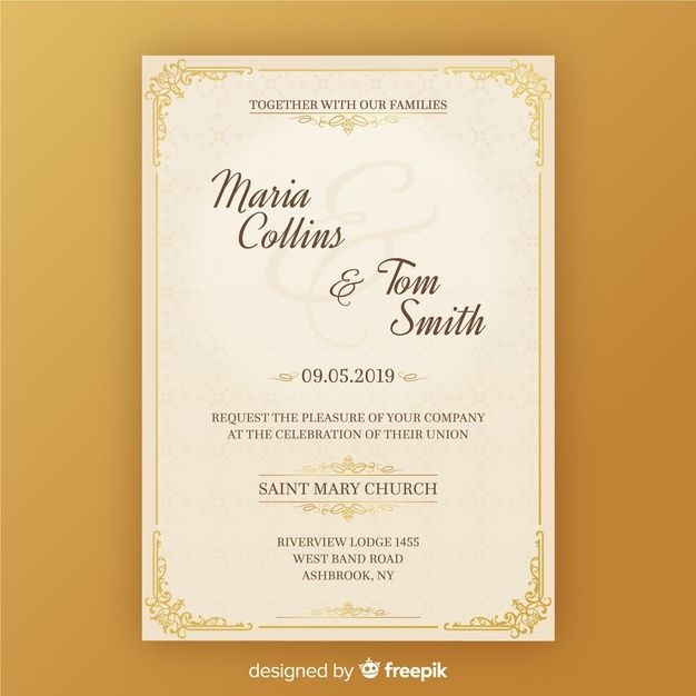 Download Wedding Invitation Card Template For Free With Images