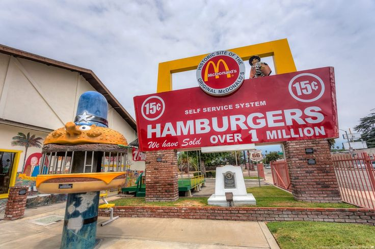 First Macdonalds Route 66 California