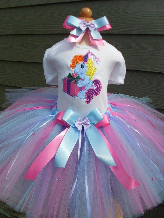 Girls FF Birthday My Little Pony Present Tutu Set