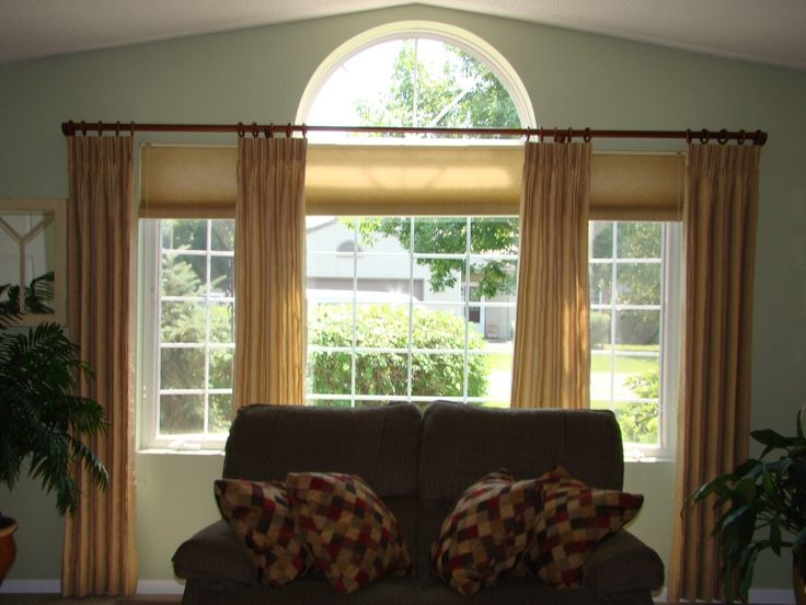 Best 25 arch window treatments ideas on pinterest for Simple window treatments for large windows