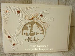 Stampin Up!, Allerbeste Wünsche, Embossing, Weihnachten, Karte, Geschenkanhänger
