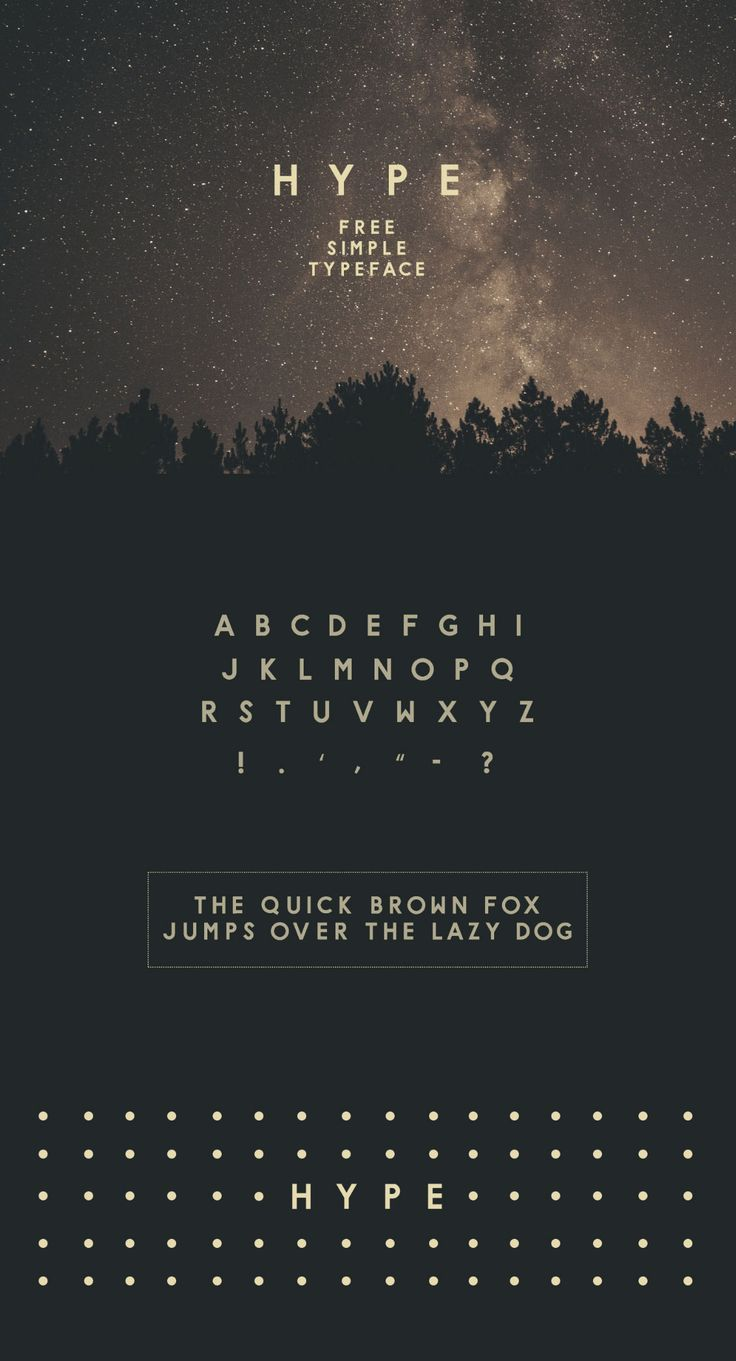 Hype Free Typeface - Free Fonts