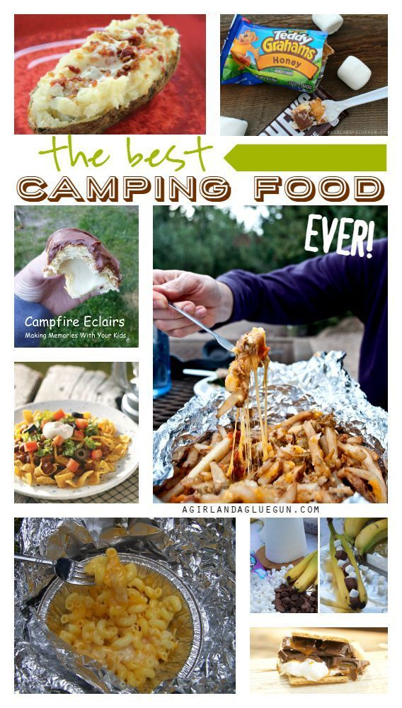 A roundup of the easiest and tastiest #camping grub!