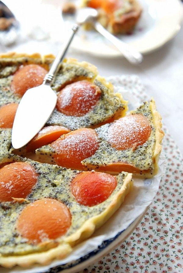 Tarte à l'abricot et aux graines de pavot
