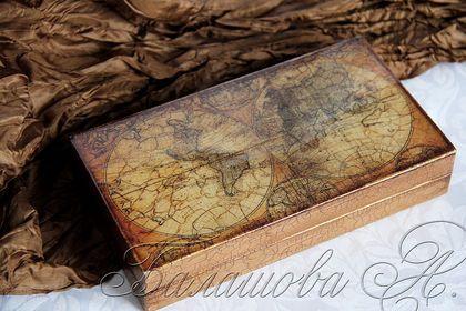 """Купюрница """"Карта сокровищ"""" - карта,старинная карта,купюрница с картой"""