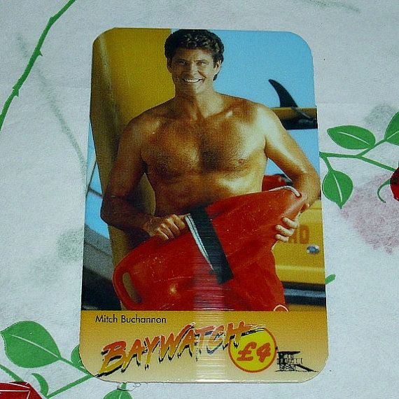 Rare Baywatch Phone Card Mitch Buchannon TV by WelshGoatVintage