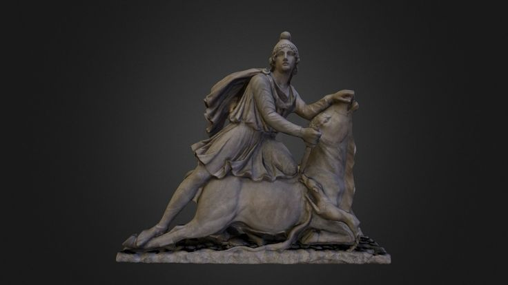 """Mithras slaying the bull"" by matthewbrennan"
