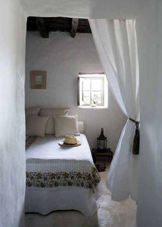 Ethno style guest house mediterranean style bedroom design