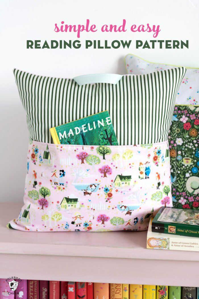 Easy Reading Pillow Pattern Sew Pillows Reading