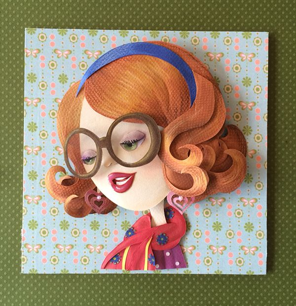 Vintage Lady Paper Sculpture on Behance