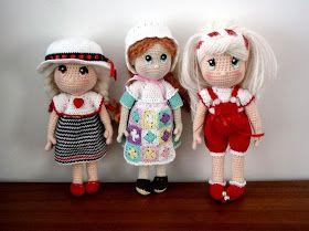 Candy Dolls Muñeca Amigurumi - Patrón Gratis en Español aquí: losenredosdelyanne.blogspot.com.es/2014/04/patron-amigurumi-candy-dolls.html?m=1