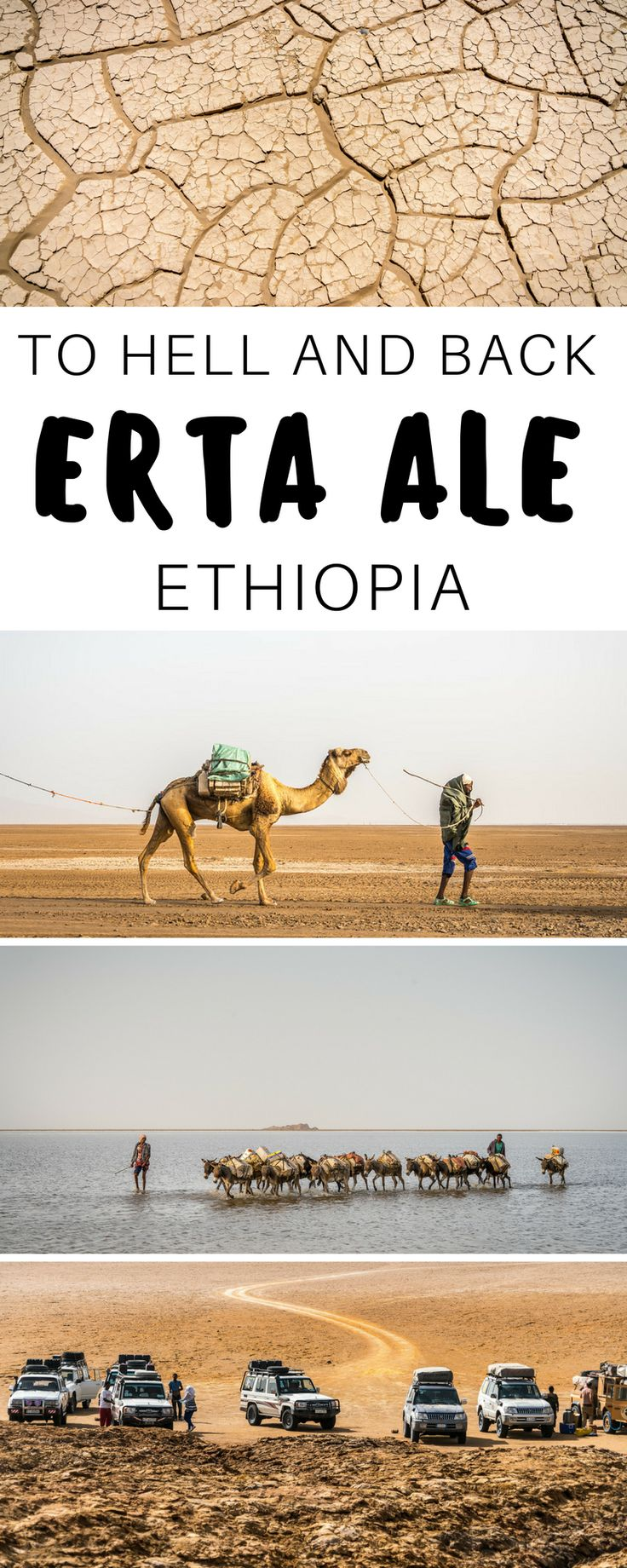 What it's like to visit Erta Ale in the Danakil Depression. Situated in Ethiopia near the border of Djibouti, this region demands respect as the hottest place on earth. The hike to the Lava Lake at Erta Ale is intense and preparedness is key. Here's what my experience was like. Adventure travel in Africa. | Everything Everywhere Destination Guide #Ethiopia #Africa