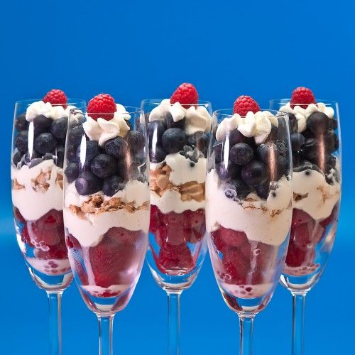Red, White and Blueberry Parfait for the 4th of July
