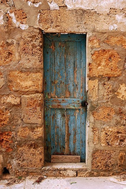 The Skinny Blue Door, Batroun - Lebanon by M. Khatib, via Flickr