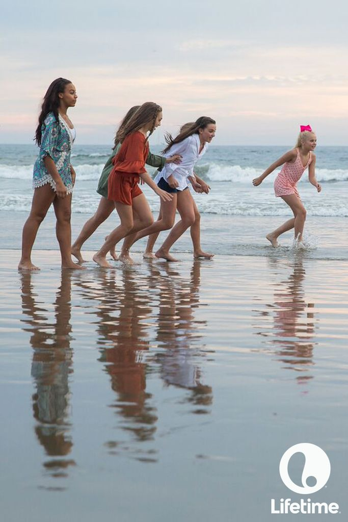 Ready, set, go! The Dance Moms girls sure know how to have fun on the beach.