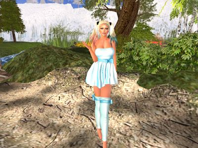 Martinas Inworldz Journey: MySin  Candy Dress with Socks & A&A Harleen Hair