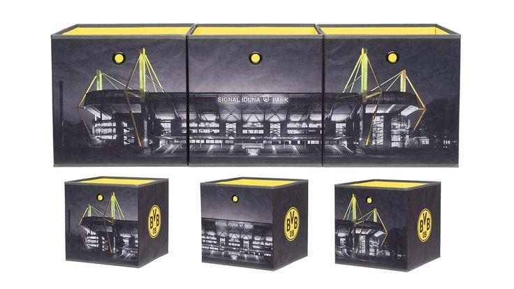 Nice Faltbox FLORI er Set BVB Borussia Dortmund schwarz gelb Einrichtungsideen Pinterest Borussia dortmund and Dortmund