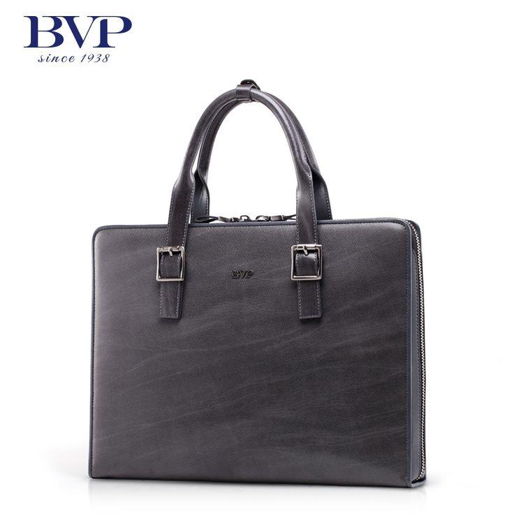 273.00$  Buy here - http://ali8l8.worldwells.pw/go.php?t=1911915257 - BVP High-end Men Genuine Real Leather Vntage Briefcase Laptop Attache Portfolio Document File Business Bag Gray Handbag T1017