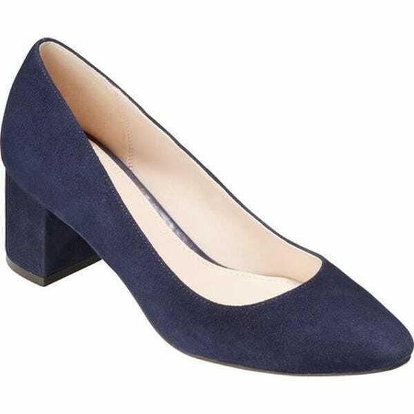 Justine Pump Navy Blue Suede Shoe Size