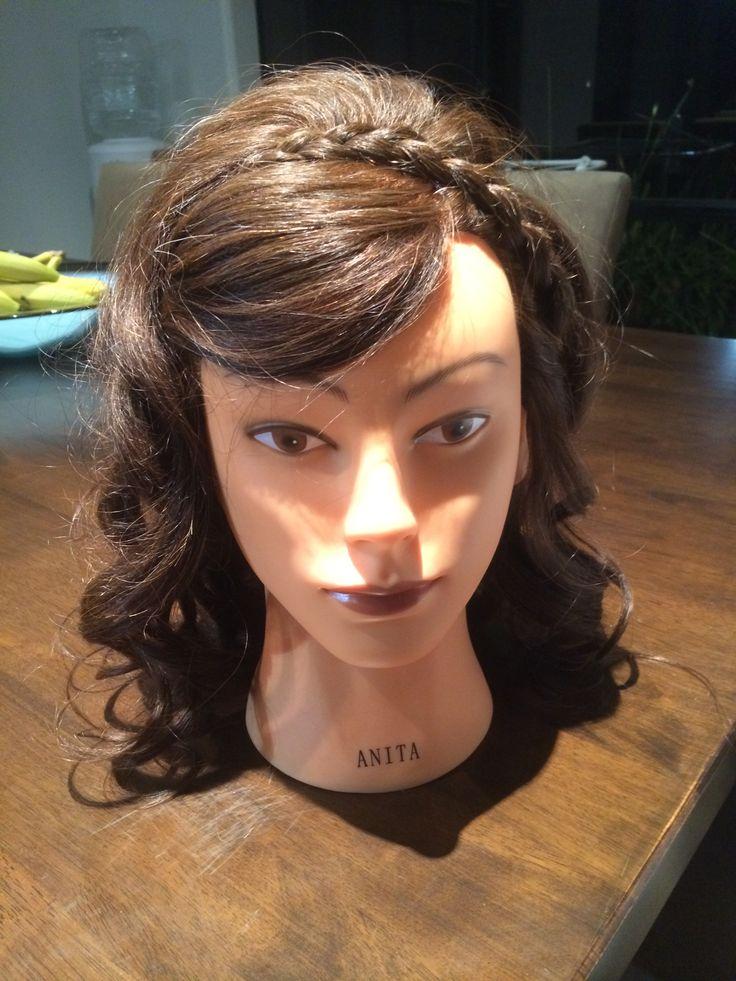 Braid headband and curls