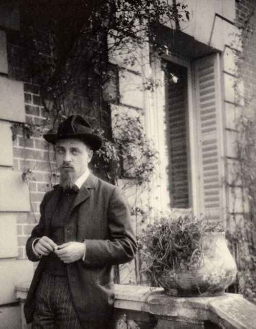 Rainer Maria Rilke, 1906 -by George Bernard Shaw [+] [possibly taken in Meudon, when Rilke was staying with Rodin and Shaw posing] from LSE